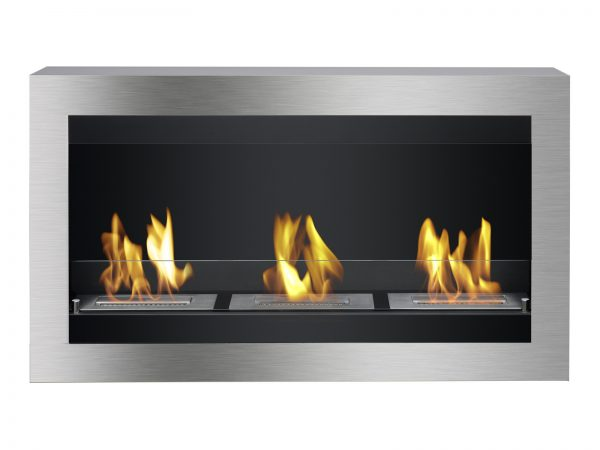 Magnum Ethanol Fireplace - Front View