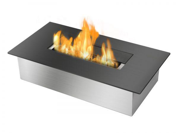 EB1400 Black Ventless Ethanol Burner Insert