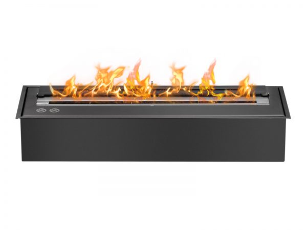 EB2400 Black Ethanol Fireplace Burner Insert - Front View