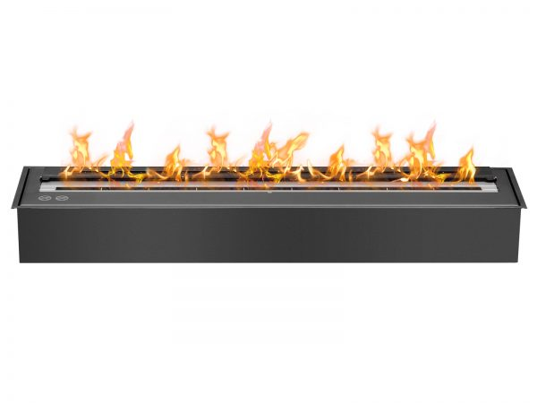 EB3600 Black Ethanol Fireplace Burner Insert - Front View