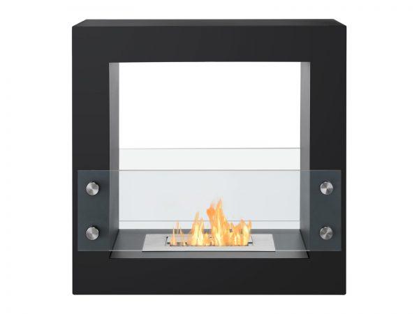 Tectum Mini Black Freestanding Ventless Ethanol Fireplace