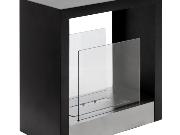 Tectum S - Freestanding Ethanol Fireplace - Side View