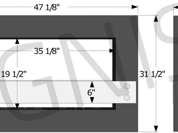 Tectum Freestanding Fireplace Dimensions