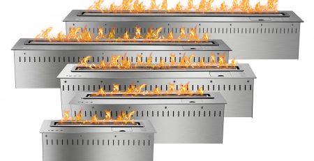 Ignis Smart Bio Ethanol Burner Inserts in Stainless Steel