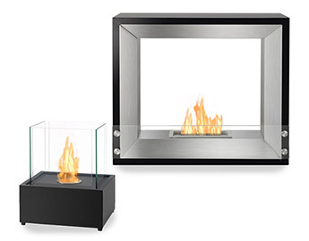 Freestanding Ventless Bio-Ethanol Fireplaces