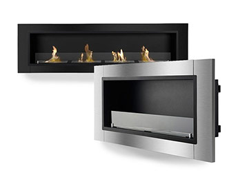 Recessed Ventless Bio-Ethanol Fireplaces