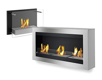 Wall Mounted Ventless Bio-Ethanol Fireplaces